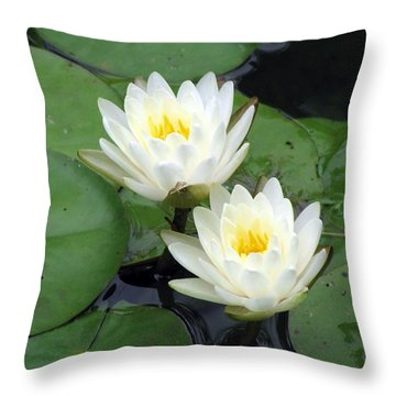 Throw Pillow featuring the photograph The Water Lilies Collection - 06 by Pamela Critchlow