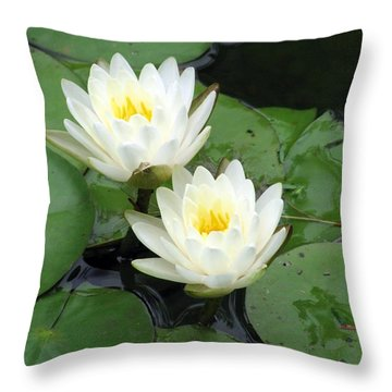 Throw Pillow featuring the photograph The Water Lilies Collection - 07 by Pamela Critchlow