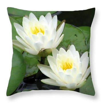 Throw Pillow featuring the photograph The Water Lilies Collection - 08 by Pamela Critchlow