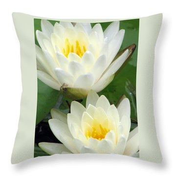 Throw Pillow featuring the photograph The Water Lilies Collection - 09 by Pamela Critchlow