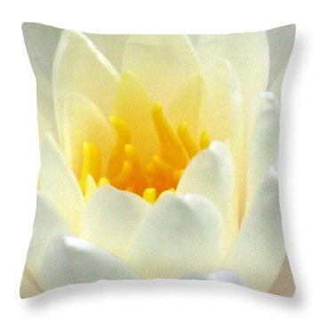 Throw Pillow featuring the photograph The Water Lilies Collection - 10 by Pamela Critchlow