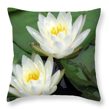 Throw Pillow featuring the photograph The Water Lilies Collection - 12 by Pamela Critchlow