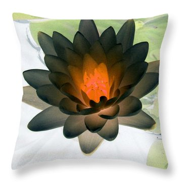 Throw Pillow featuring the photograph The Water Lilies Collection - Photopower 1035 by Pamela Critchlow
