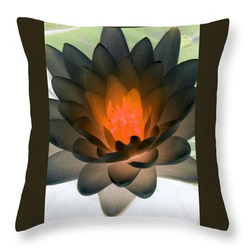 Throw Pillow featuring the photograph The Water Lilies Collection - Photopower 1036 by Pamela Critchlow