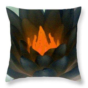 Throw Pillow featuring the photograph The Water Lilies Collection - Photopower 1038 by Pamela Critchlow