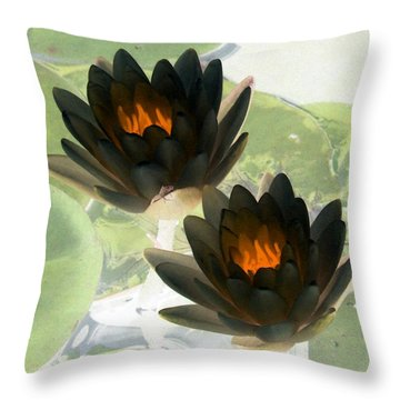 Throw Pillow featuring the photograph The Water Lilies Collection - Photopower 1041 by Pamela Critchlow