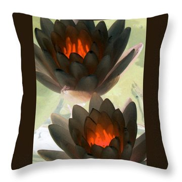 Throw Pillow featuring the photograph The Water Lilies Collection - Photopower 1042 by Pamela Critchlow