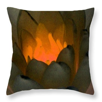 Throw Pillow featuring the photograph The Water Lilies Collection - Photopower 1043 by Pamela Critchlow