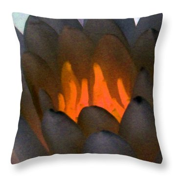 Throw Pillow featuring the photograph The Water Lilies Collection - Photopower 1044 by Pamela Critchlow