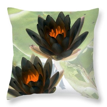 Throw Pillow featuring the photograph The Water Lilies Collection - Photopower 1046 by Pamela Critchlow