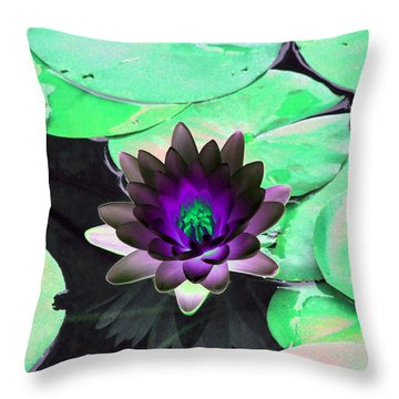 Throw Pillow featuring the photograph The Water Lilies Collection - Photopower 1113 by Pamela Critchlow
