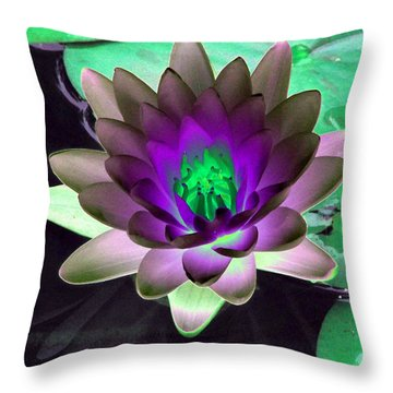 Throw Pillow featuring the photograph The Water Lilies Collection - Photopower 1114 by Pamela Critchlow