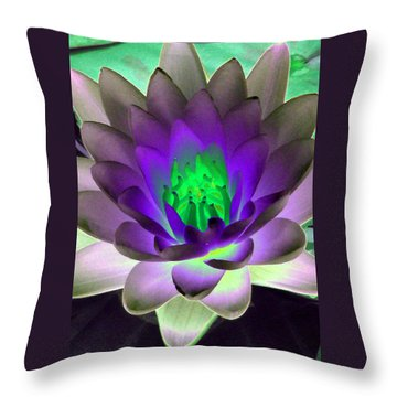 Throw Pillow featuring the photograph The Water Lilies Collection - Photopower 1115 by Pamela Critchlow