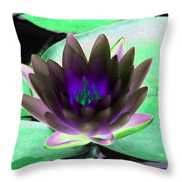 Throw Pillow featuring the photograph The Water Lilies Collection - Photopower 1116 by Pamela Critchlow