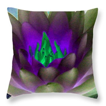 Throw Pillow featuring the photograph The Water Lilies Collection - Photopower 1117 by Pamela Critchlow