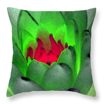 Throw Pillow featuring the photograph The Water Lilies Collection - Photopower 1122 by Pamela Critchlow