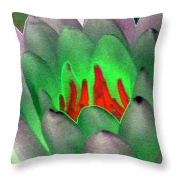 Throw Pillow featuring the photograph The Water Lilies Collection - Photopower 1123 by Pamela Critchlow