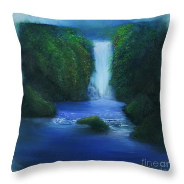 The Waterfall Throw Pillow by David Kacey