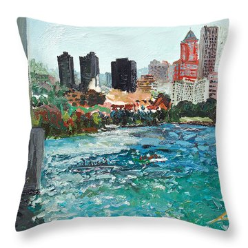The Waterfront Throw Pillow by Joseph Demaree