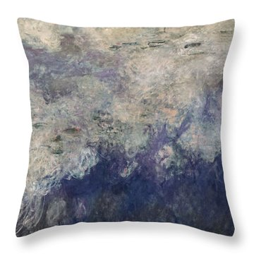 The Waterlilies - The Clouds Central Section 1915-26 Oil On Canvas See Also 64184 & 64186 Throw Pillow