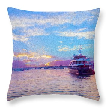 The Waters Are Calm Painting  Throw Pillow by Jon Neidert