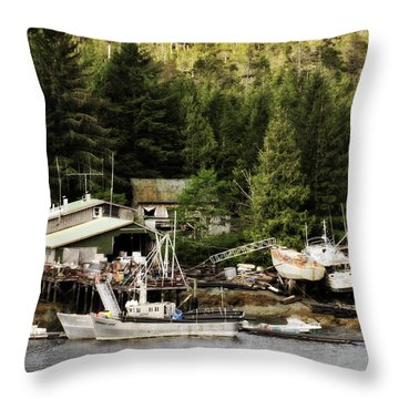 Throw Pillow featuring the photograph The Waters Edge 2 by Davina Washington