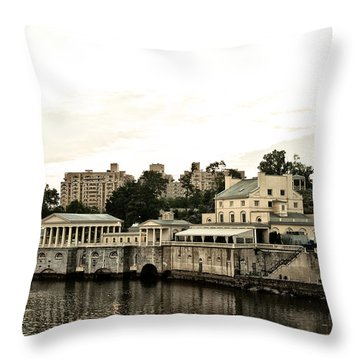 The Waterworks Throw Pillow by Bill Cannon