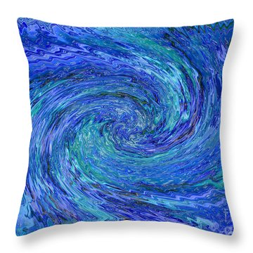 The Wave Throw Pillow by Carol Groenen