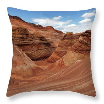 The Wave Center Of The Universe Throw Pillow
