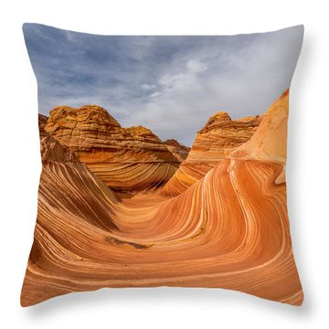 Throw Pillow featuring the photograph The Wave by Dustin  LeFevre