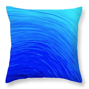 The Wave Throw Pillow by Kellice Swaggerty