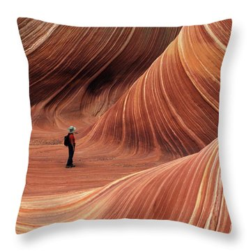 The Wave Seeking Enlightenment Throw Pillow by Bob Christopher