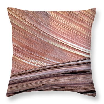 'the Wave' North Coyote Buttes 02 Throw Pillow
