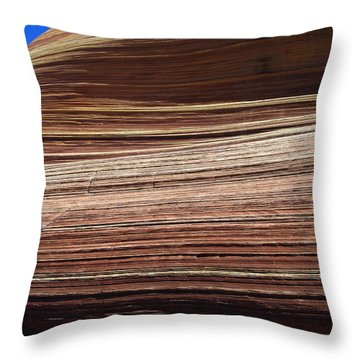 'the Wave' North Coyote Buttes 06 Throw Pillow