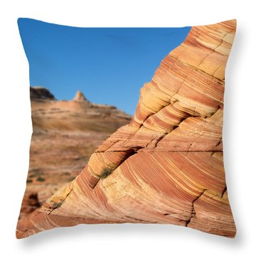 'the Wave' North Coyote Buttes 13 Throw Pillow