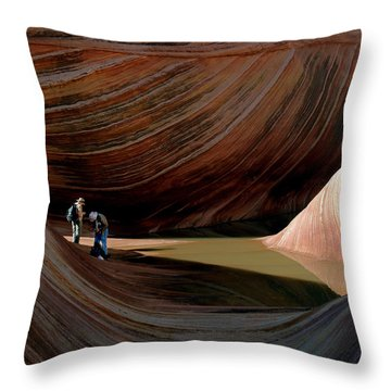 'the Wave' North Coyote Buttes 44 Throw Pillow