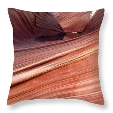 'the Wave' North Coyote Buttes 62 Throw Pillow