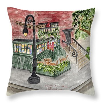 The Waverly Inn And Garden Throw Pillow