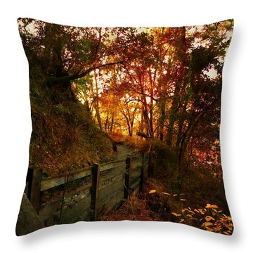 The Way Home Throw Pillow by Leah Moore
