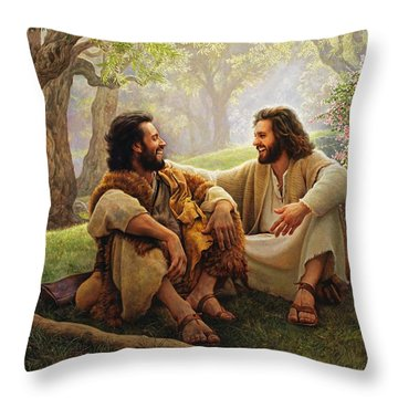 Throw Pillow featuring the painting The Way Of Joy by Greg Olsen