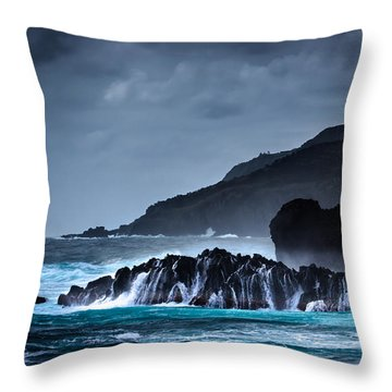 The Way To A New Wave Throw Pillow by Edgar Laureano