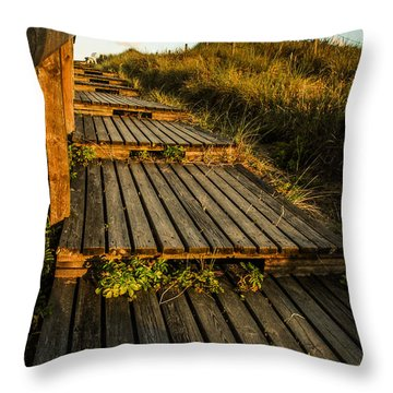 The Way To The Sea Throw Pillow by Hannes Cmarits