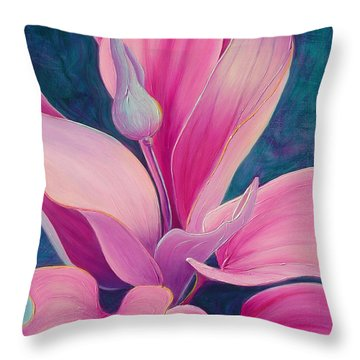 Throw Pillow featuring the painting The Way You Look Tonight by Sandi Whetzel