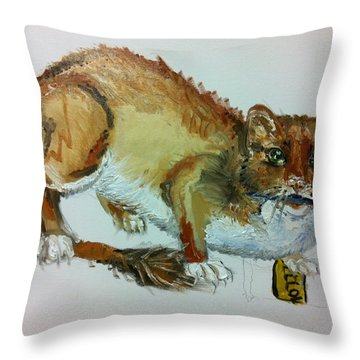 The Weasels Tail In Progress Throw Pillow