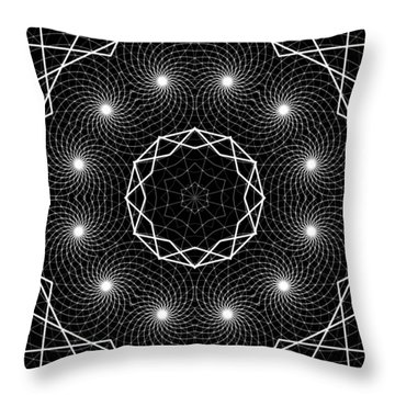 Throw Pillow featuring the digital art The Web Of Life by Derek Gedney