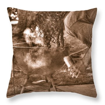 The Weber Whisperer Throw Pillow by Joe Schofield