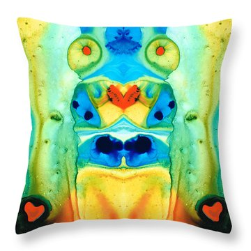 The Wedding - Abstract Art By Sharon Cummings Throw Pillow