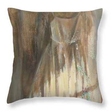 The Wedding Dress Throw Pillow
