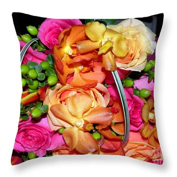 The Wedding Flowers Throw Pillow by Kathy  White