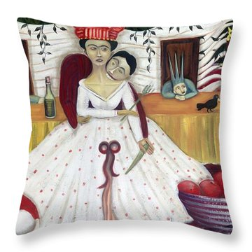 The Wedding Throw Pillow by Jennifer Taylor